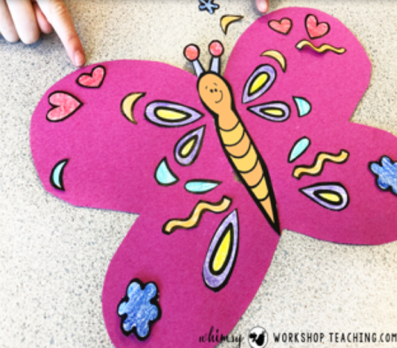 symmetry butterfly math crafts