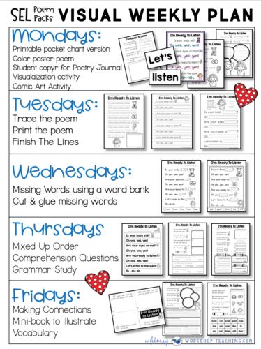 poetry week plan