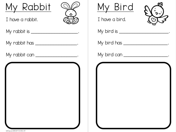 Simple sentence templates to support young writers