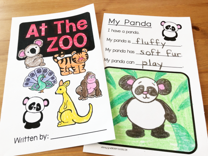 simple books with writing templates for first grade writing