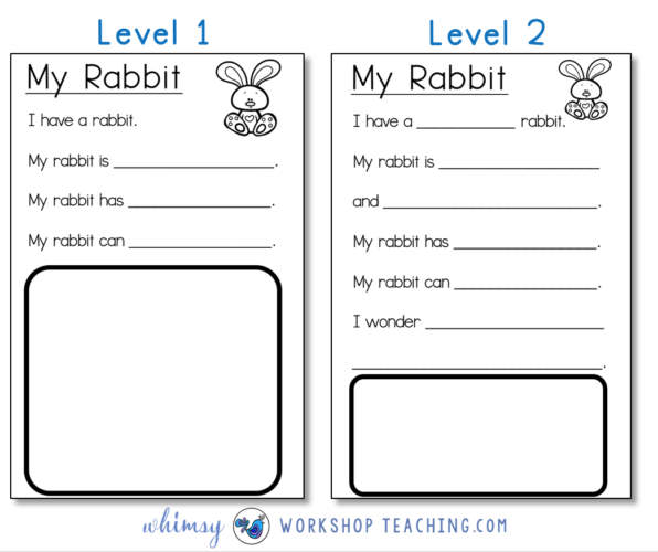 Differentiated writing templates for emergent writers