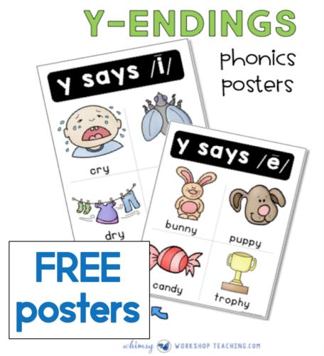 free Y-Ending Words posters