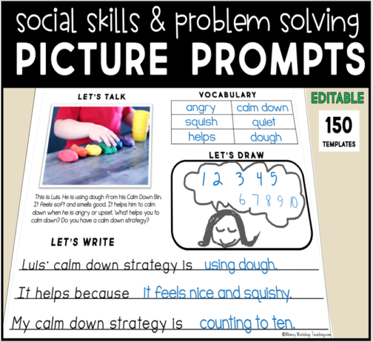Social Skills Picture Prompts for journals