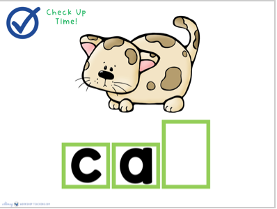 how to spell CAT guided spelling