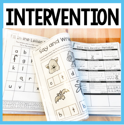 intervention math and reading