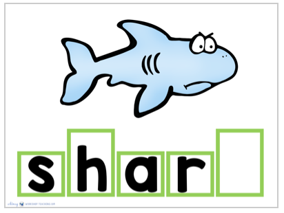 shark spelling slide