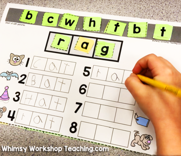 spelling tiles for manipulating letter sounds activity called spelling switcheroo