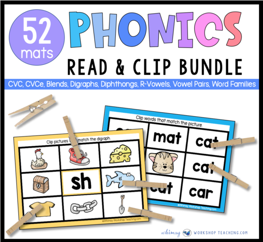 read and clip mats to practice phonics through the year