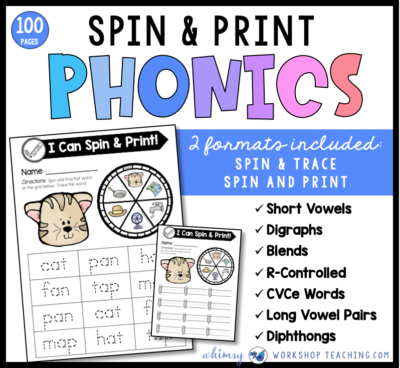 Spin and Print Phonics centers