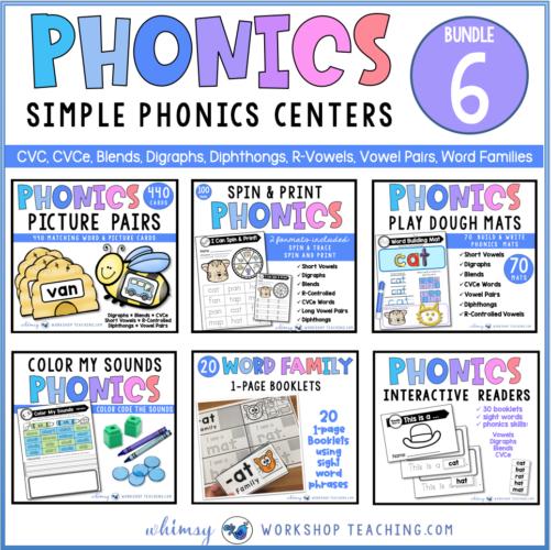 Phonics Bundle 6 Simple Phonics Center