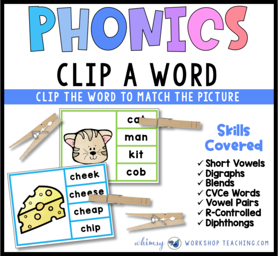 Phonics Clip A Word Phonics Center