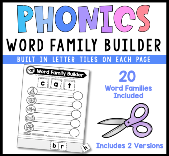 Phonics Word Family Builder