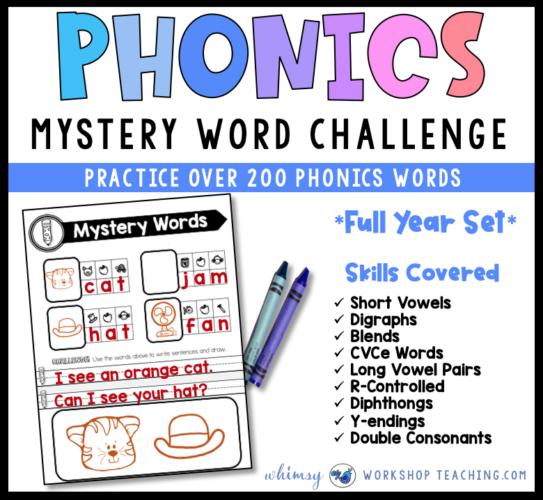 Mystery Word Phonics Challenge