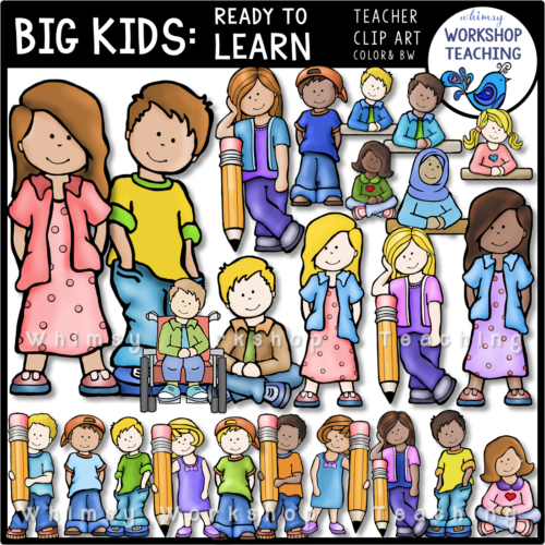 big kids clip art set