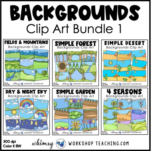 Simple Backgrounds clip art bundle 1