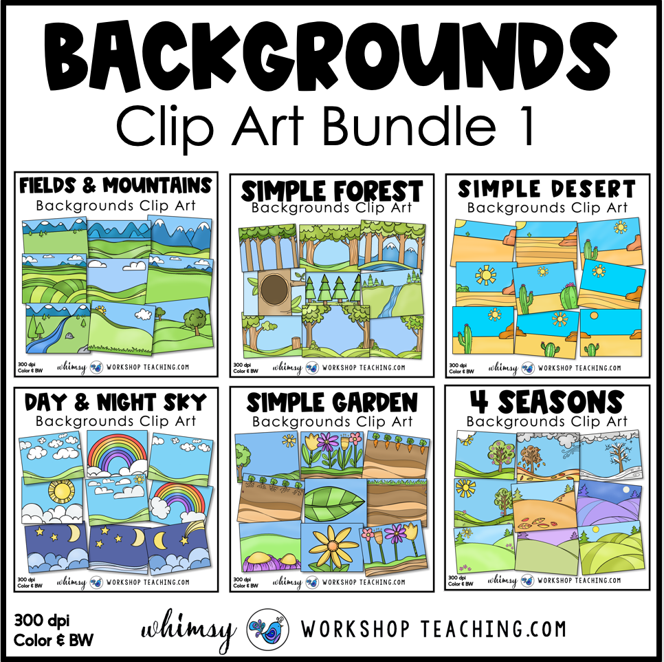 Simple Backgrounds clip art bundle 1