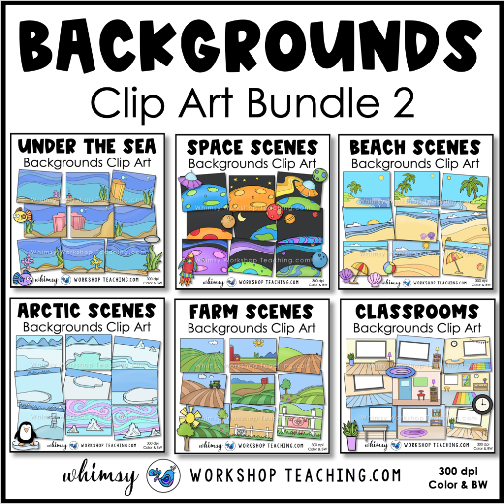 Simple Backgrounds clip art bundle 2