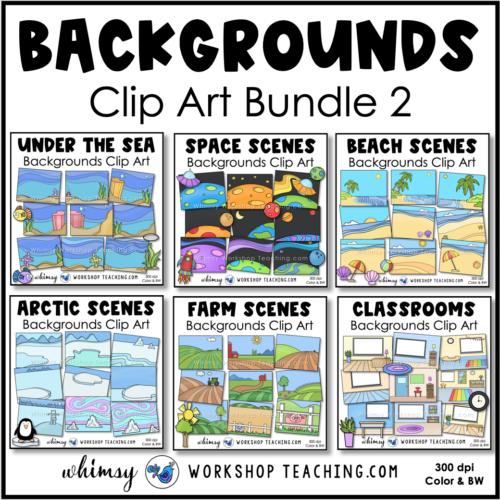Simple Backgrounds clip art bundle 2