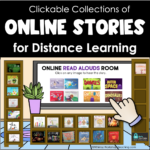 a clickable virtual online library to organize read aloud stories