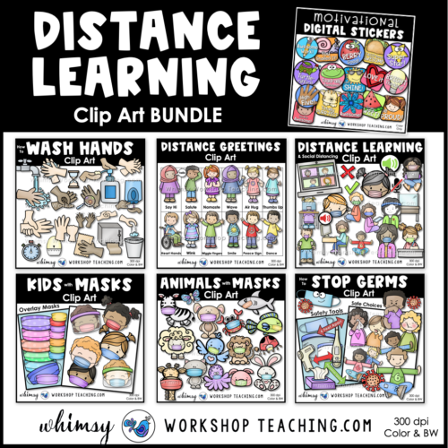 big bundle of distance learning clip art