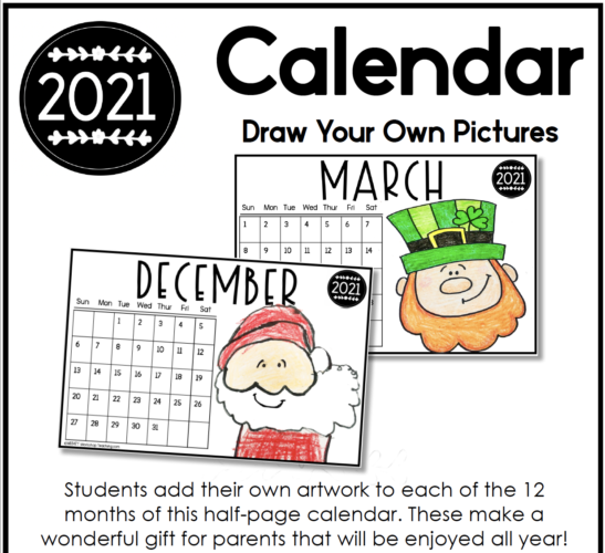 calendars to make with directed drawing videos