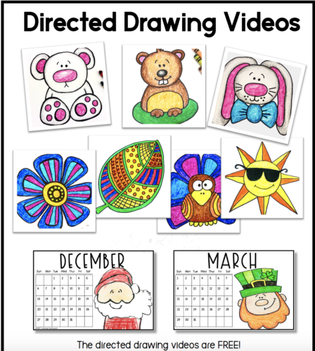 directed drawing videos for calendars