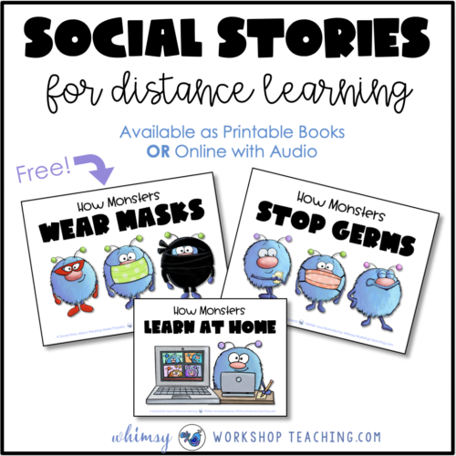 social stories to teach about distance learning