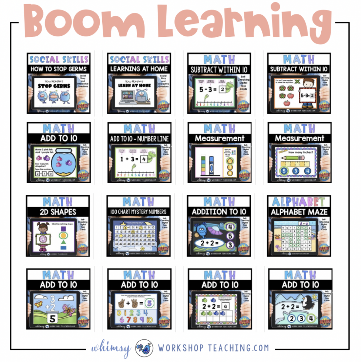 boom learning whole collection