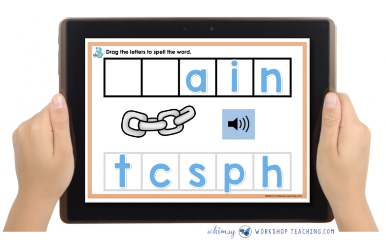 free boom learning interactive phonics word building game