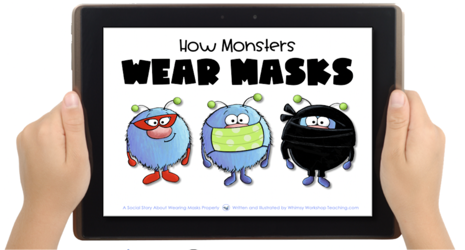 free social story about how to properly wear masks from boom learning interactive read aloud stories
