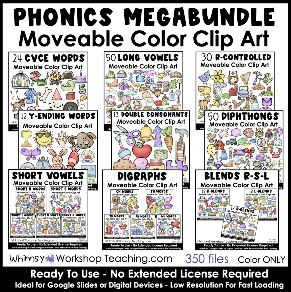 movable phonics clip art megabundle