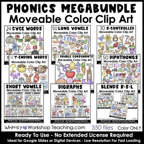 movable phonics clip art megabundle