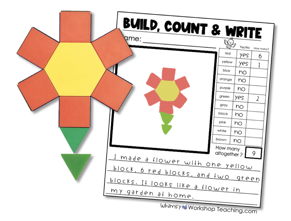 build count draw activity for socially distanced learning