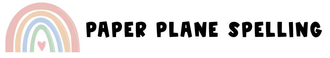 paper plane spelling socially distanced activity
