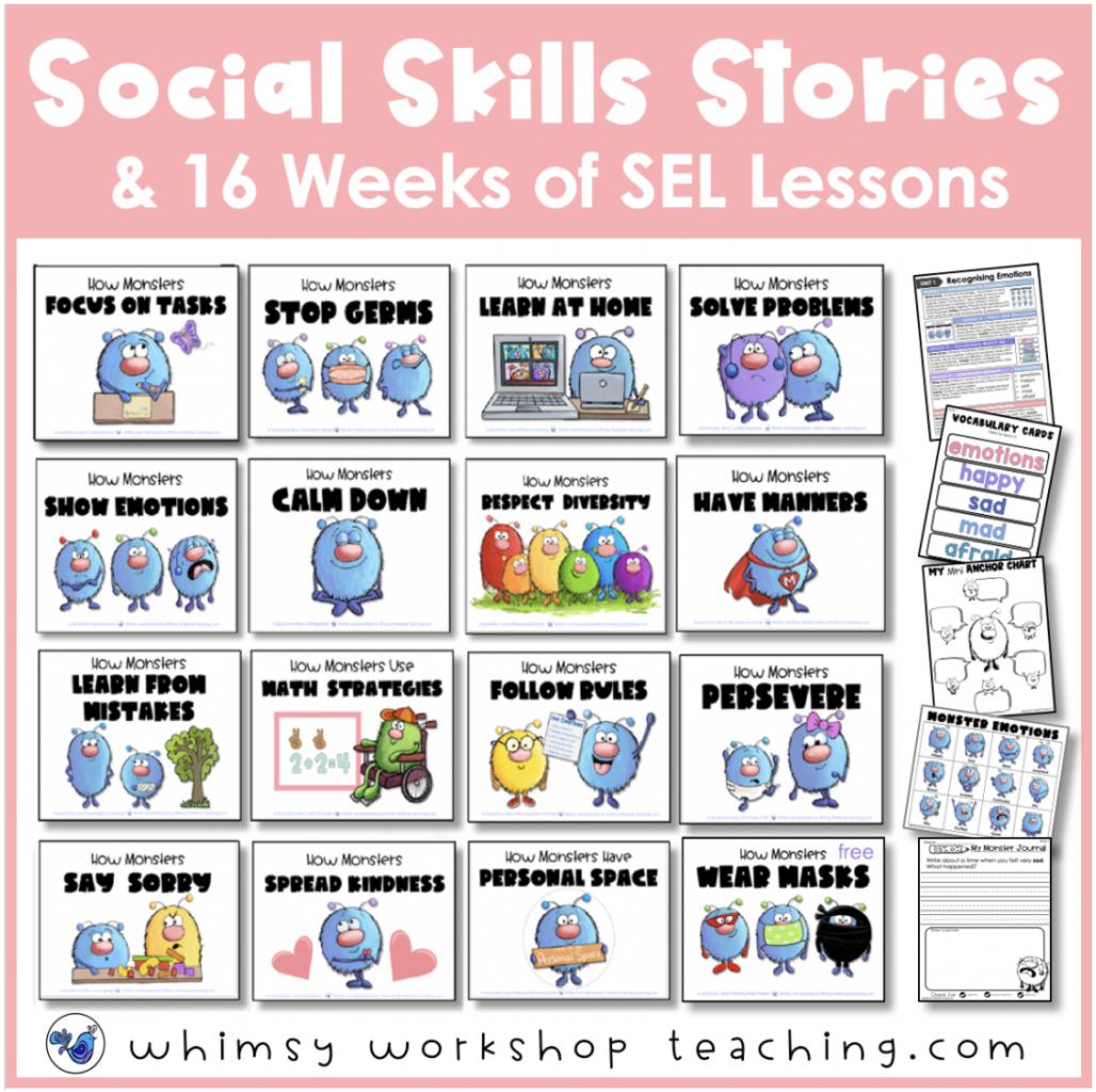 social skills monster books and lessons