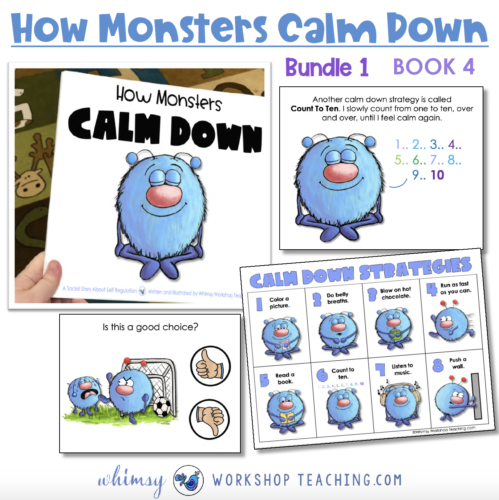 how monsters calm down social story