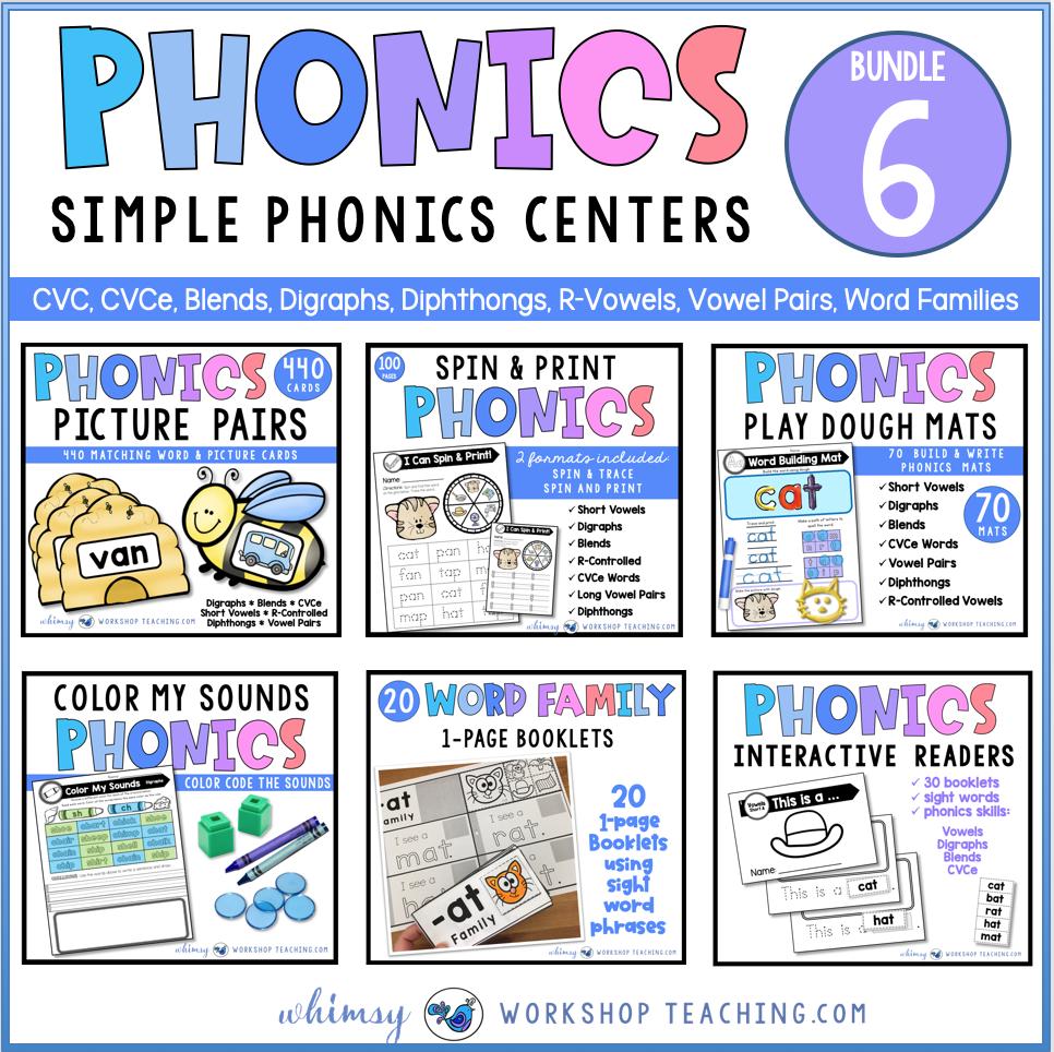 phonics centers bundle 6