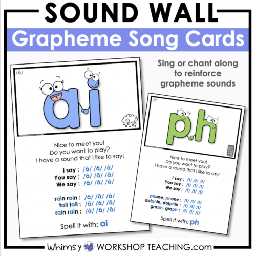 sound wall graphemes song collection